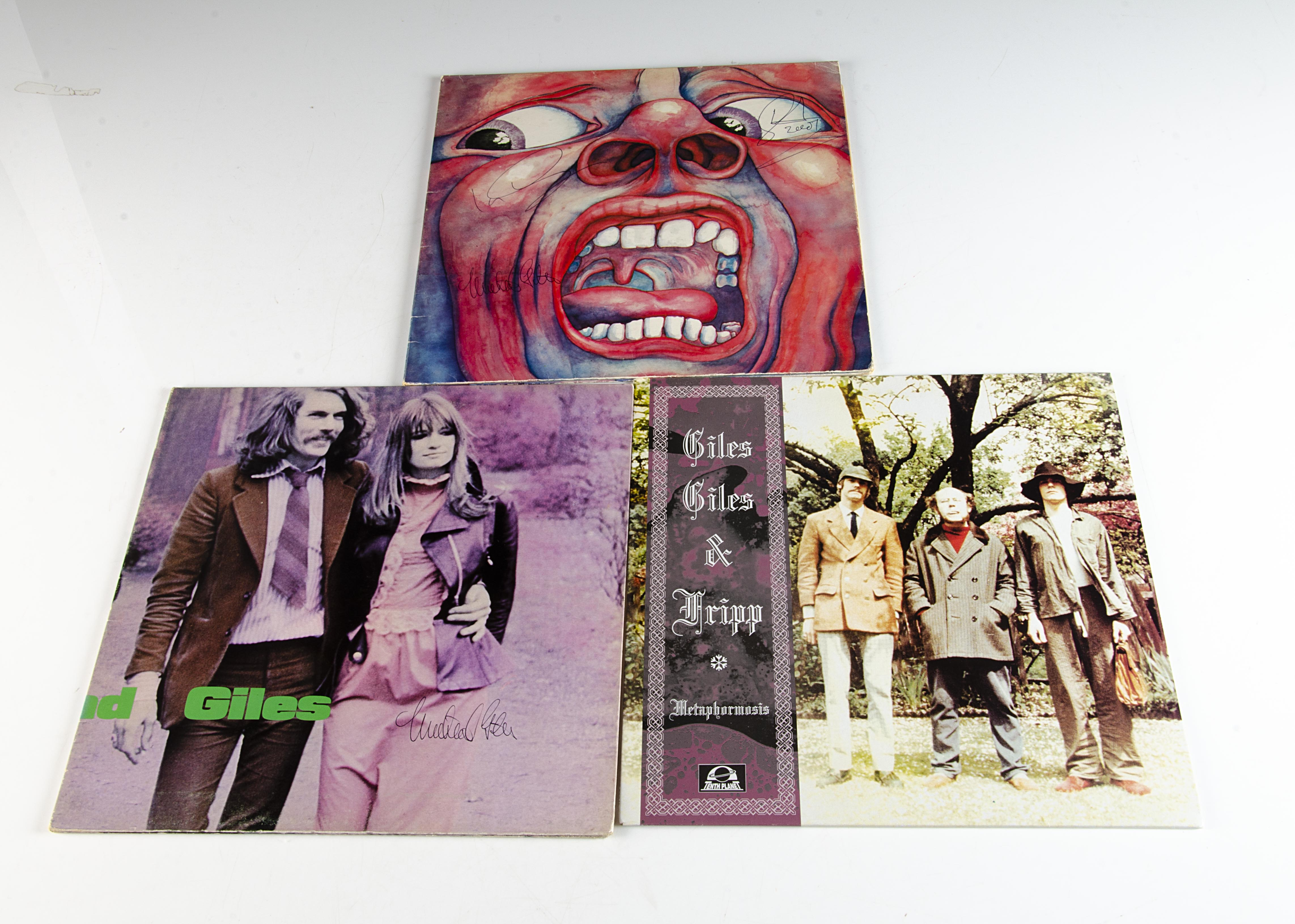 King Crimson and Related LPs / Signatures, three albums, all signed by Ian McDonald, Michael Giles - Image 4 of 4