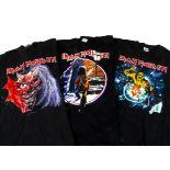 Iron Maiden Eddie 'T' Shirts, three Iron Maiden 'T' shirts - I spent Christmas with Eddie at Earls