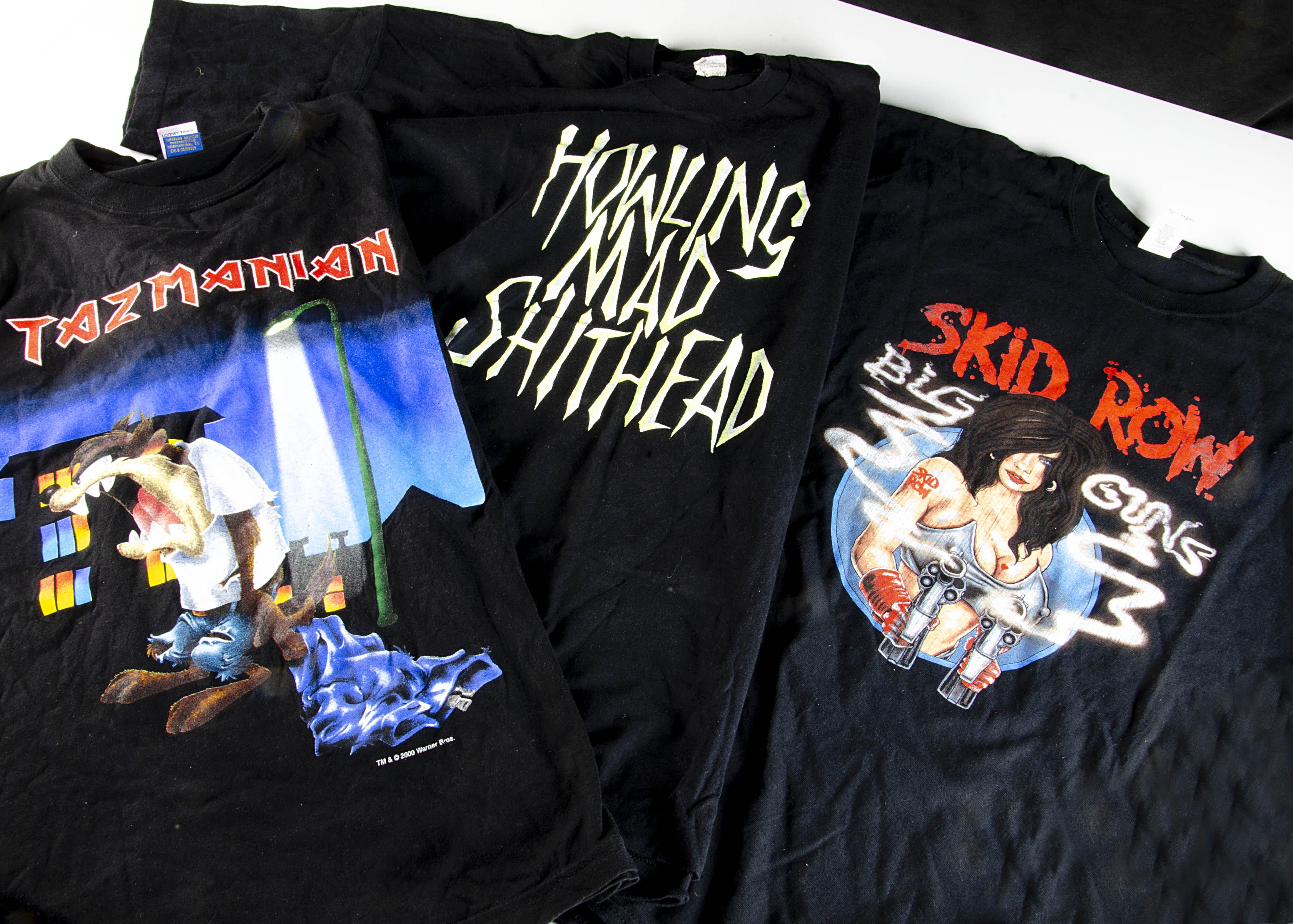 Iron Maiden Eddie 'T' Shirt, Iron Maiden 'T' shirt - Eddie's Bar 1989 blue shirt to reverse 'Eddie's - Image 3 of 5
