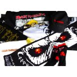 Iron Maiden Clothes / Textiles, various items comprising Baseball Cap, Socks, Be Quick or Be Dead