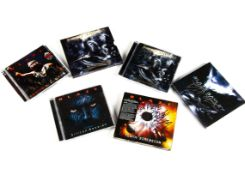 Blaze Bayley Signed CDs, five CDs signed by Blaze Bayley comprising As Live As It Gets, The Man