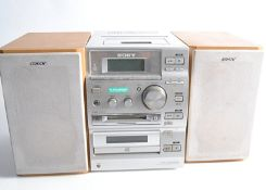 Sony Mini Disc System, Sony CMT-CP500MD Mini Disc, Cassette and CD system with speakers - very