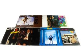 AC/DC LPs, eleven albums comprising High Voltage, Dirty Deeds Done Dirt Cheap, Let There Be Rock,