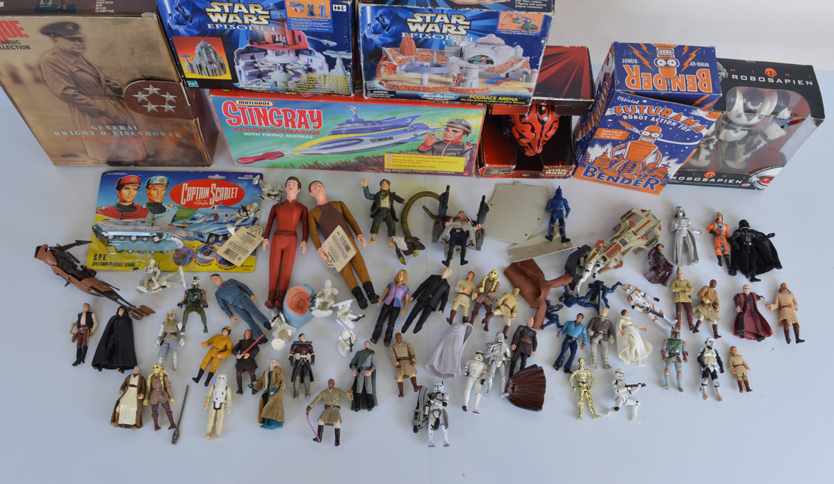 A good mixed lot of assorted TV related toys, including Star Wars Micro Machines sets, Matchbox - Image 2 of 2