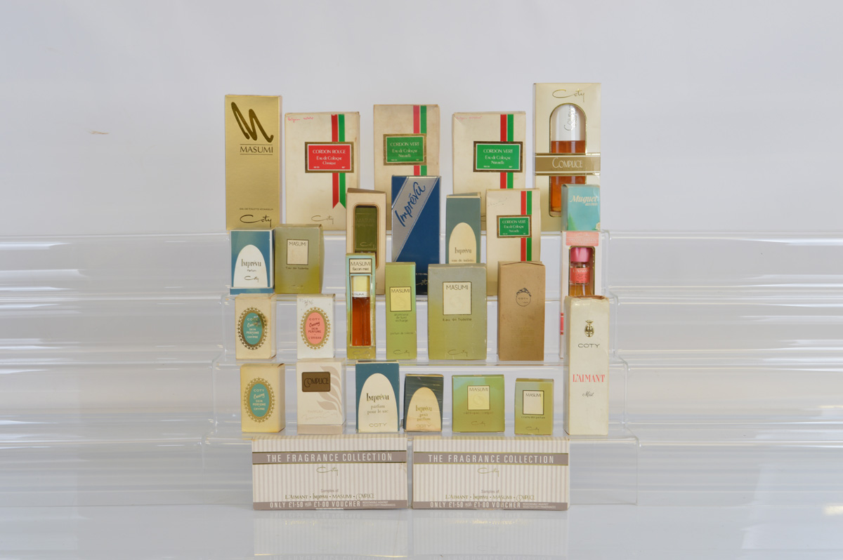 A collection of boxed Coty perfumes and similar, including Cordon Vert, L'aimant, Masumi, Impreva,