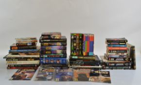 A large collection of Star Wars related books, including hardback reference books, first editions