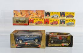 A mixed lot of diecast, including a 1:18 scale Bburago Gold Collection BMW M Roadster, Lledo