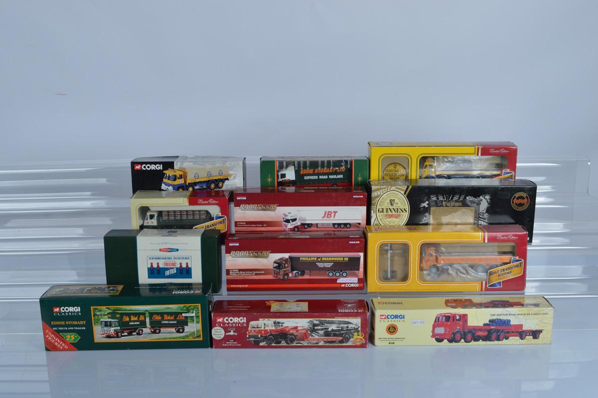 Twelve Corgi commercial vehicle models, mostly limited editions, including Road Transport