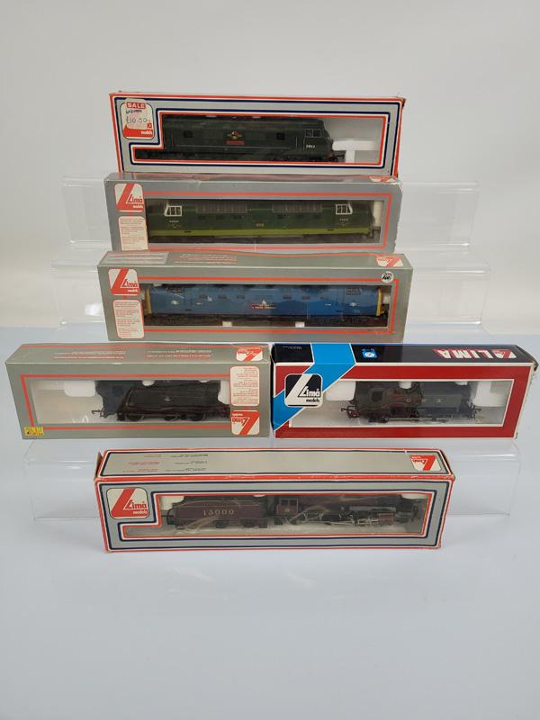 Six Lima OO gauge locomotives, 205117, 205118A1, 205135, 205105, 205106A1, 205119, all boxed.