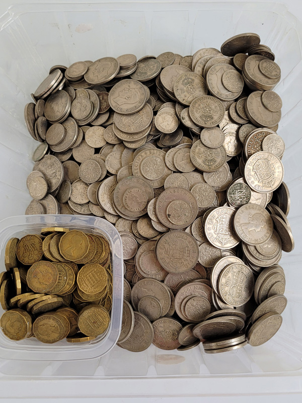 A very large collection of post 1947 British silver coinage, including half crowns, florins, six