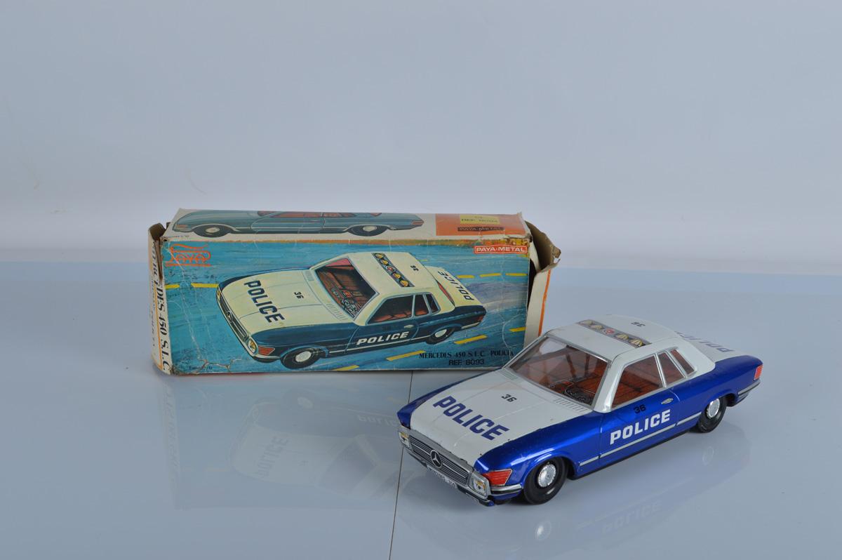 A Paya tinplate 1:12 scale 8095 model, Mercedes 450 SLC, with box.