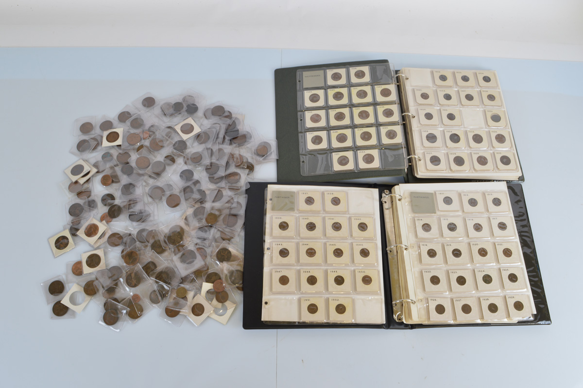 A large collection of British copper coinage, includes Victorian, Edward VI, George V George VI