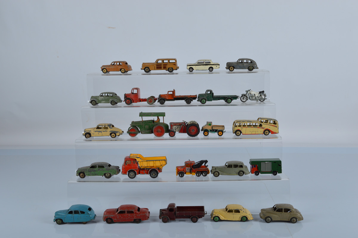 A collection of vintage diecast models, mostly Dinky Toys (24)