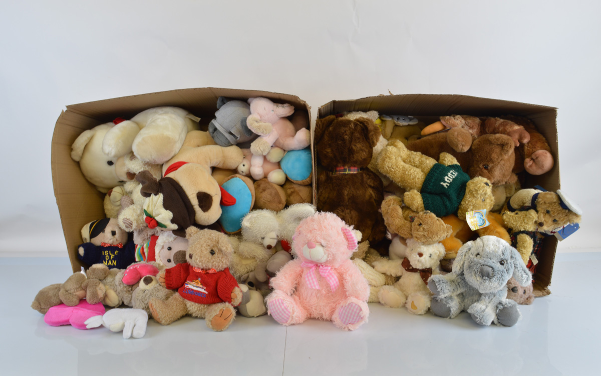 A good quantity of assorted soft toys, including animals and bears