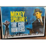 The Girl Hunters (1963) British quad film poster, based on the Mickey Spillane book of the same