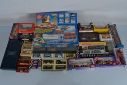 A good quantity of approx. 50 assorted boxed diecast models and sets, including Lledo Rolls Royce