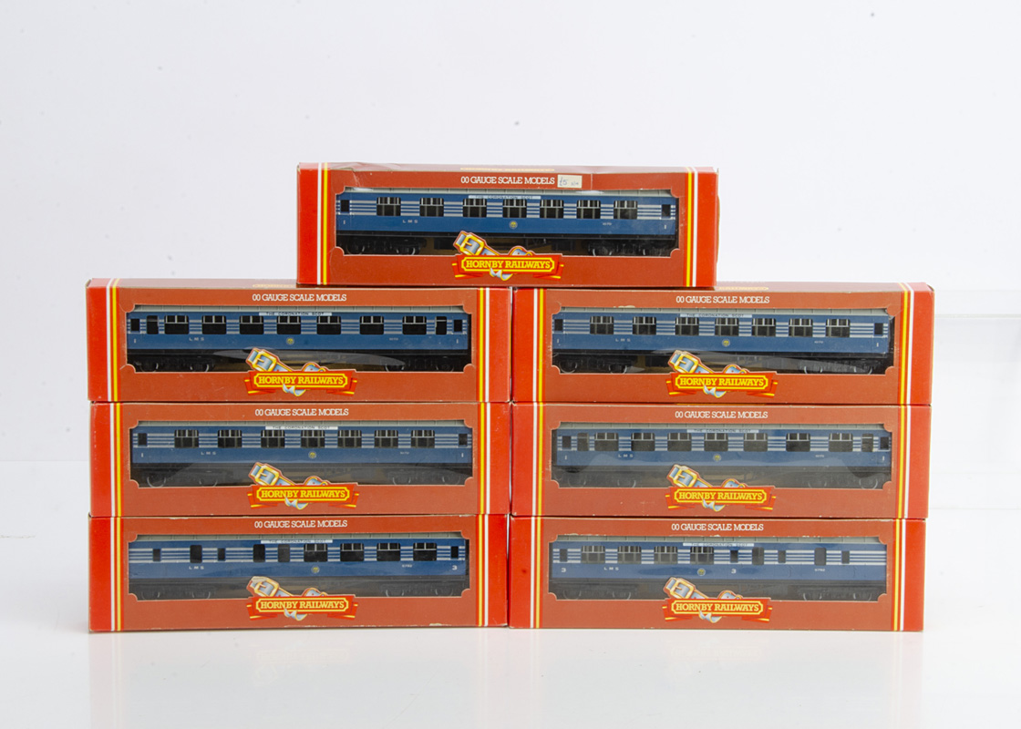 Hornby (Margate) OO Gauge Royal Scot Coaches, a boxed rake of seven coaches comprises R422 1st (5)