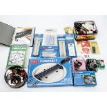 Peco 00 Gauge Turntable Kit and Motors and various lineside Accessories and spares and booklets by