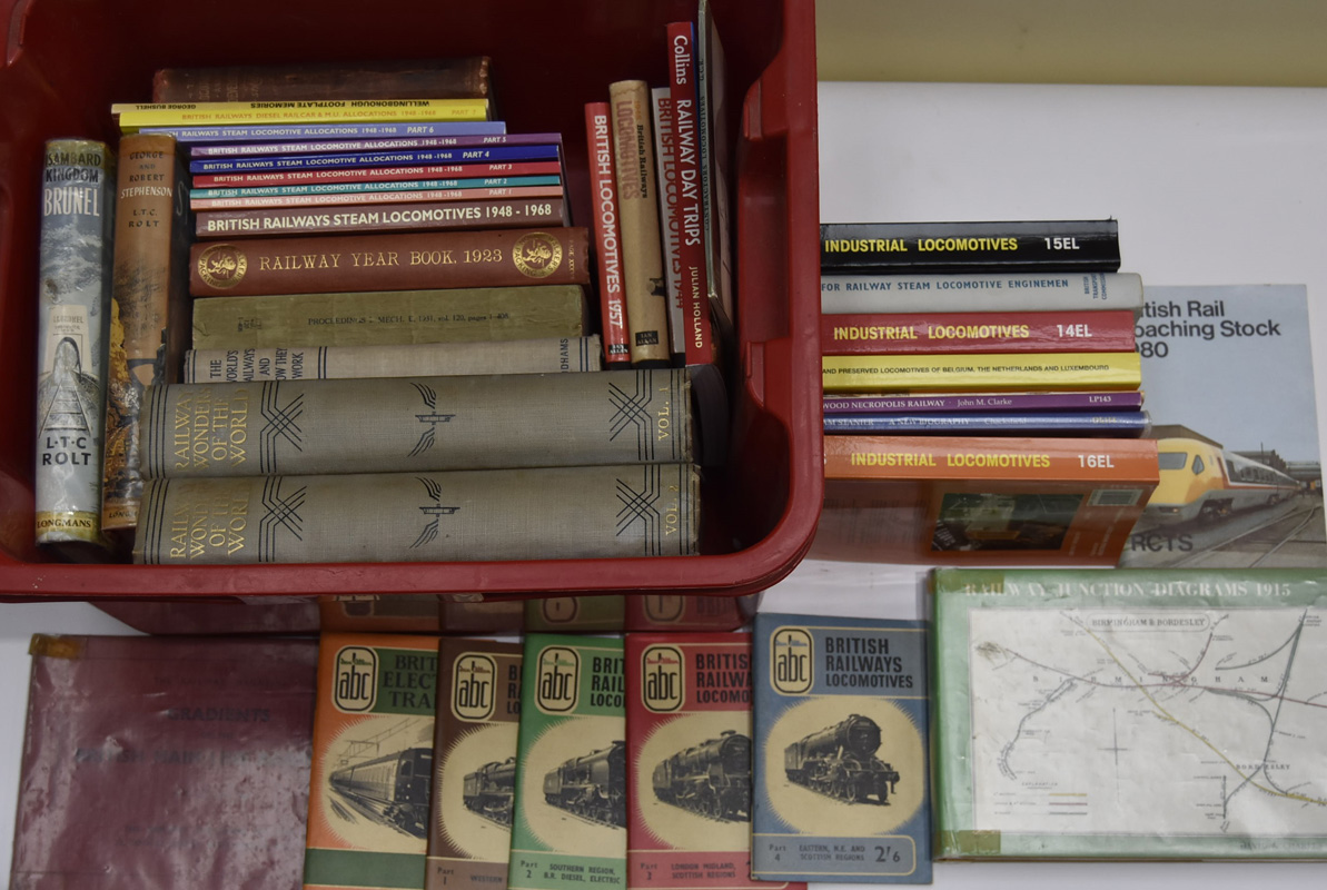 Various mostly older British Railway Books, including bound 'Railway Wonders of the World' (2 vols),