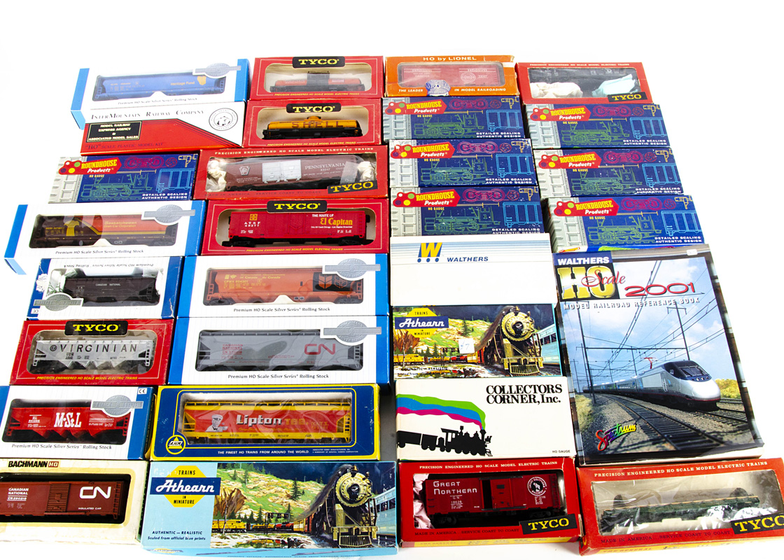 American HO Gauge Goods Wagons, a boxed collection comprising ready to run examples by Tyco (7),