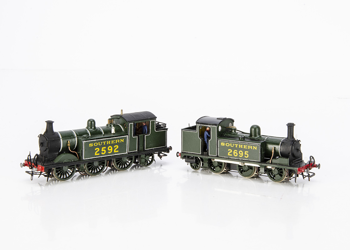 A pair of Kit-built 00 Gauge ex-LBSCR E1R and E5 class 0-6-2 Tank Locomotives, from South-Eastern