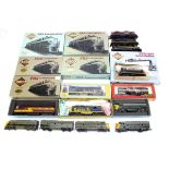 American HO Gauge Diesel Locomotives and Dummy Units, various examples boxed Proto 2000 Series