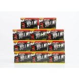 Eleven sleeve boxes each with three boxed wagons of Hornby 00 Gauge weathered finished rolling