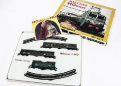 A French Hornby Acho HO Gauge Train Set, ref 6134, containing self-coloured SNCF green BB-8144