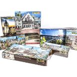 Faller and Jouef HO Gauge Layout Model Building Sets, a boxed group of unmade kits comprising Faller