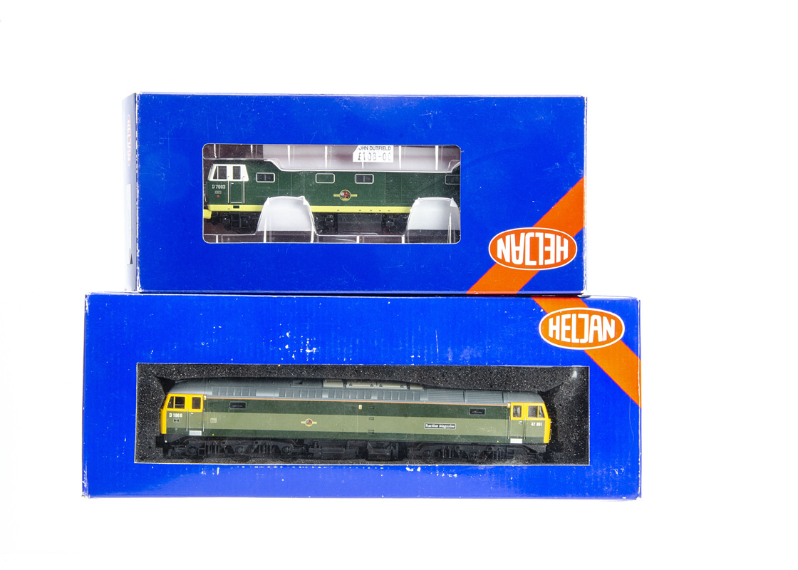 Heljan OO Gauge Diesel Locomotives, two boxed examples 4666 BR Class 47 851 Traction Magazine in