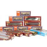 OO Gauge Goods Wagons, a boxed collection includes Lima 9038 twin flat bolster wagons with loads (