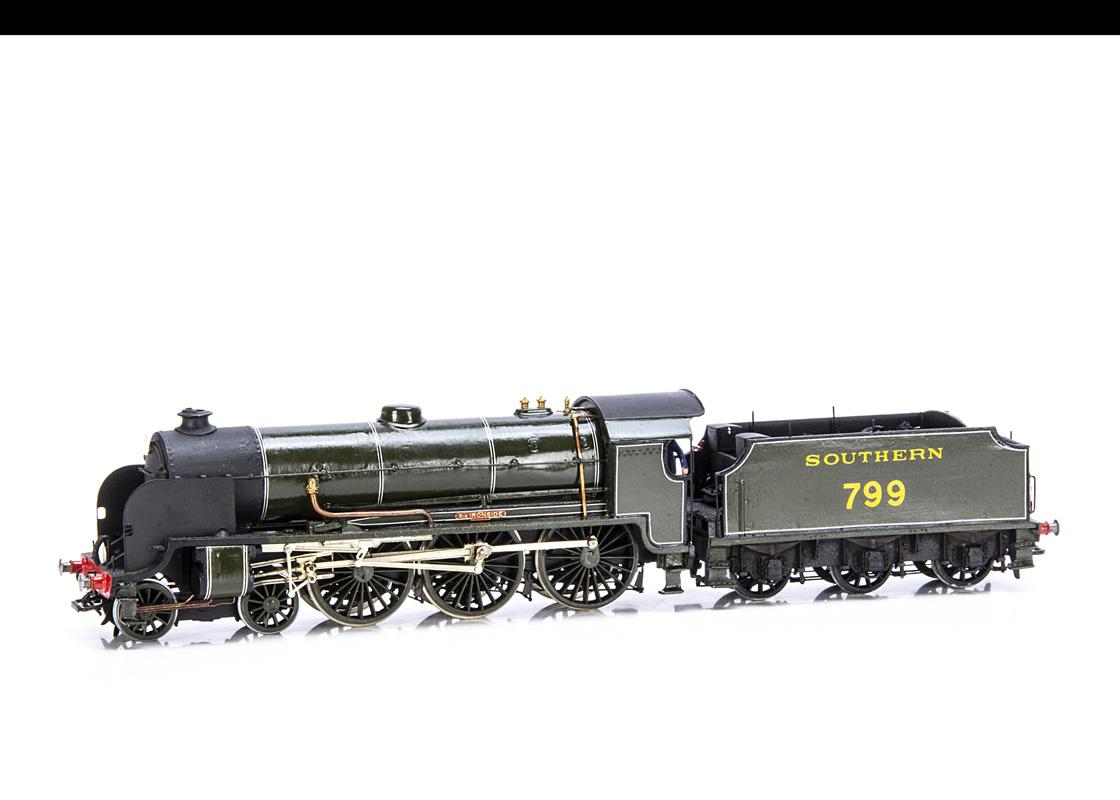 A Kit-built 00 Gauge SR Maunsell 'King Arthur' class 4-6-0 Locomotive and Tender, from a Wills