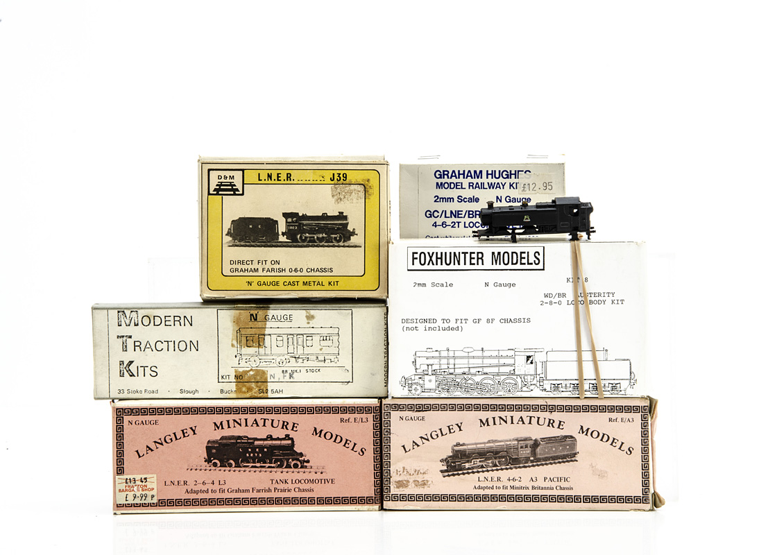 N Gauge Locomotive Body kits, Graham Hughes N Gauge BR Class A-5 whitemetal Locomotive body kit, D&M