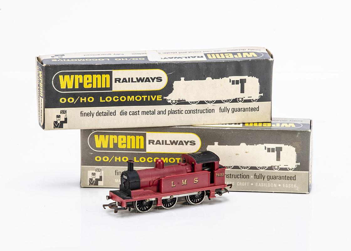 Wrenn 00 Gauge W2204 LMS red 0-6-0 Tank Engine, No 7420, in original box, G-VG, box F, warping/