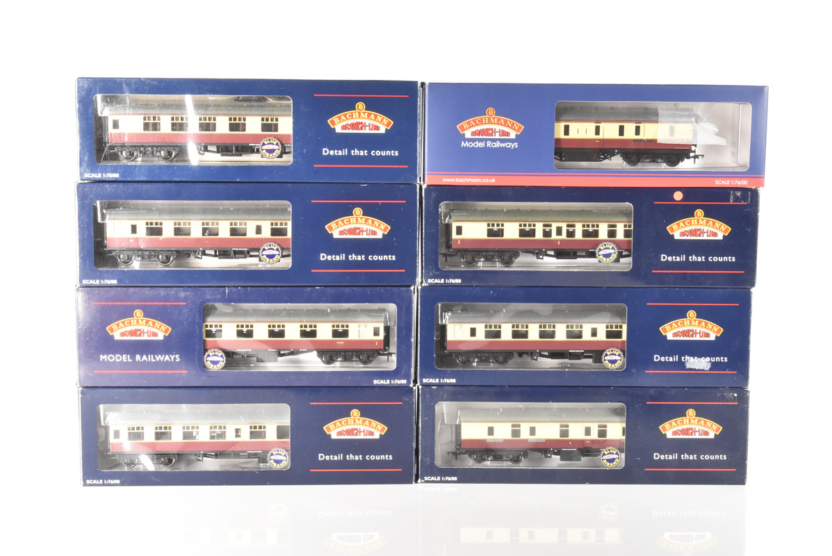 Bachmann 00 Gauge BR MK1 SK crimson and cream coaches, 39, 027A, 052, 052A, 127, 152A, 177, 227