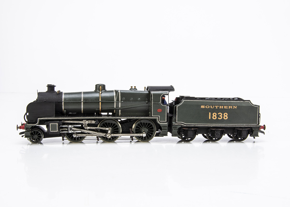 A Kit-built 00 Gauge SR Maunsell 'N' class 2-6-0 Locomotive and Tender, from a Wills body kit,