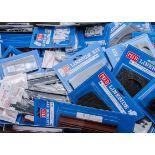Peco ex-Shop Stock N Gauge Lineside Kits in carded blister packs, including NB-45 Flexible Field