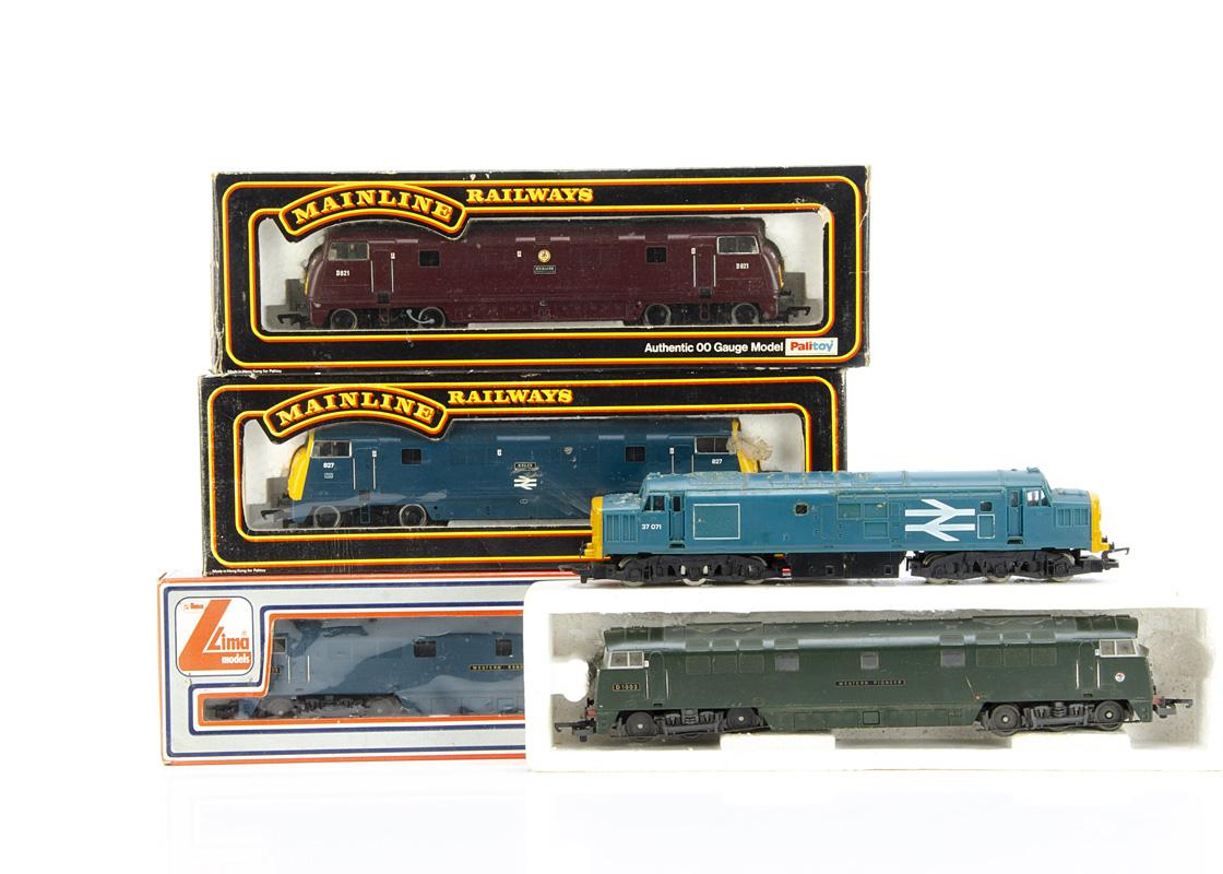 OO Gauge Diesel Locomotives, three boxed examples Lima 20 5122 Western Renown in BR blue livery,