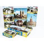 Kibri HO Gauge Layout Model Building Sets, a boxed group of unmade kits comprising single