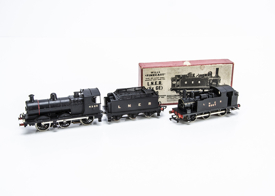 Two made-up Kit-bodied 00 Gauge LNER Locomotives, comprising a neatly-finished J11 0-6-0 and