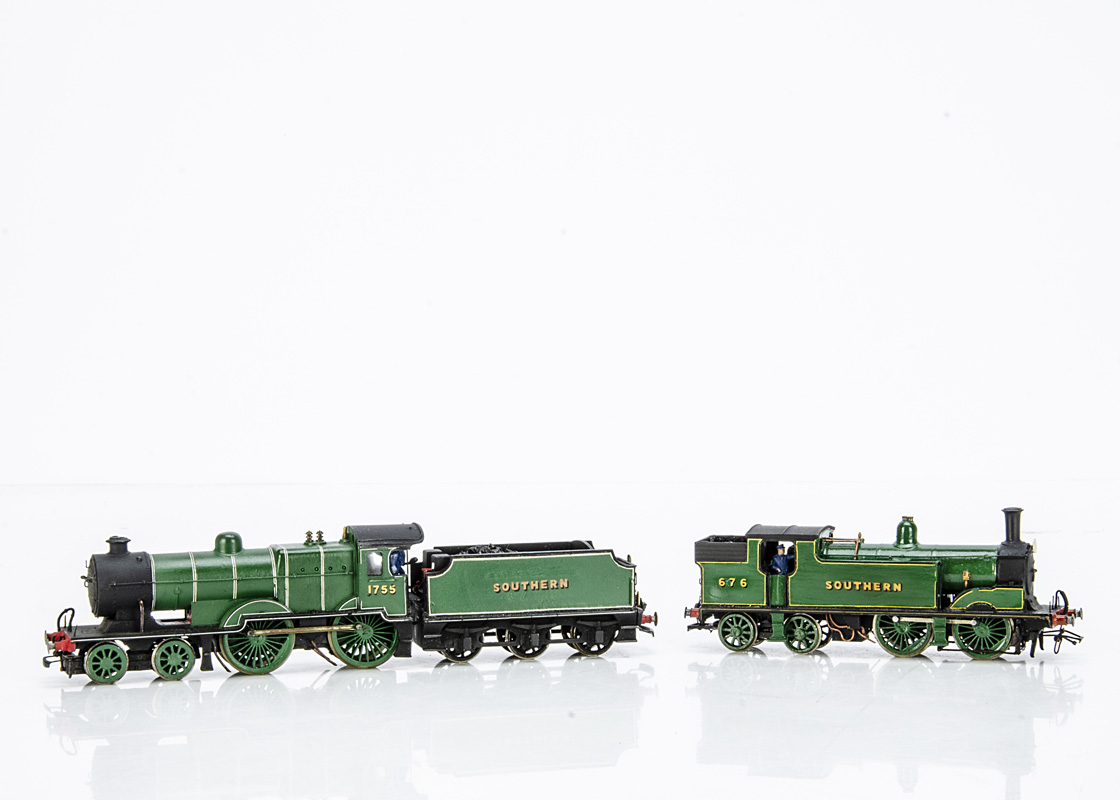 Modified and Kit-built 00 Gauge SR Maunsell 'L1' class 4-4-0 and Tender with ex-LSWR M7 0-4-4 Tank