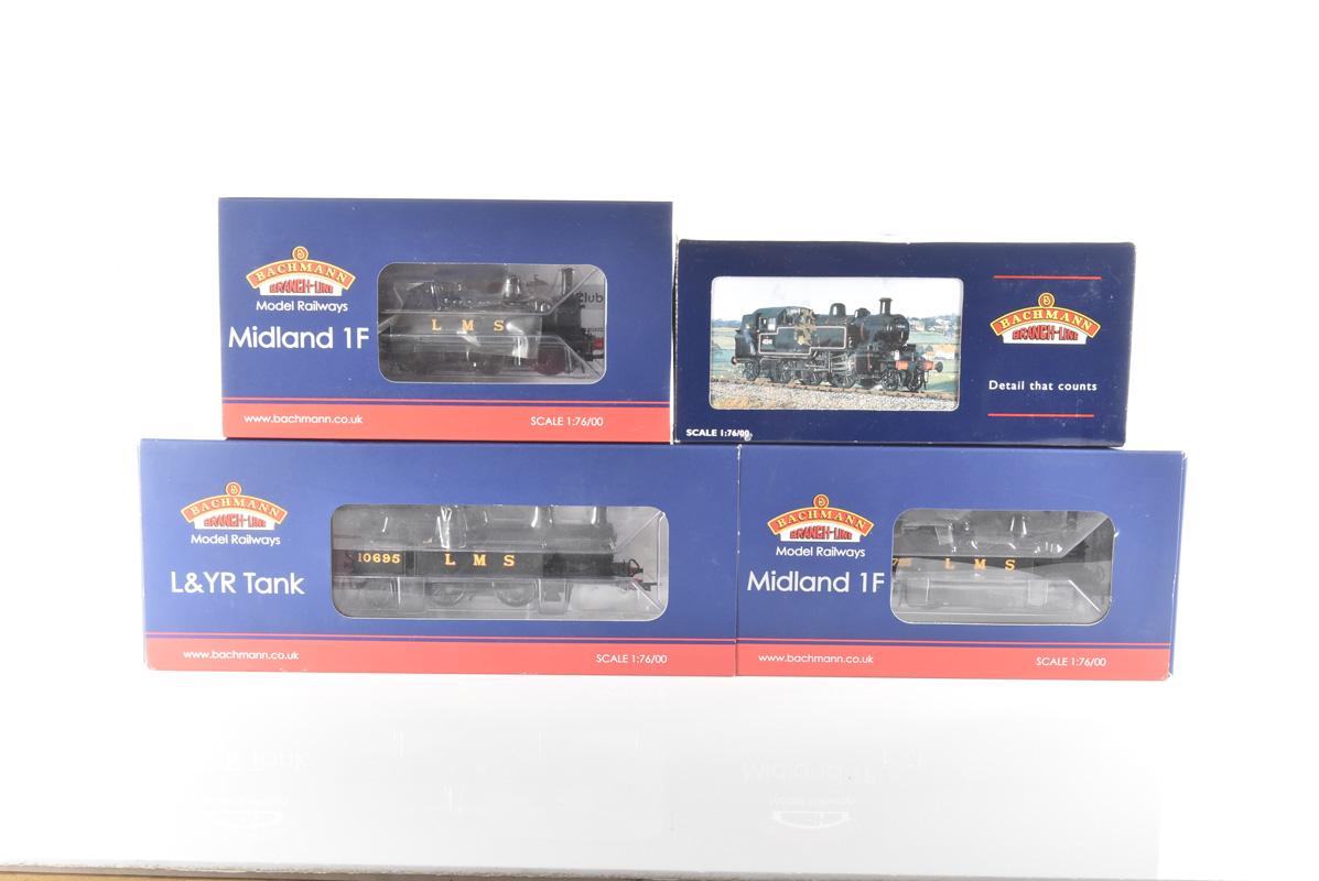 Bachmann 00 Gauge LMS Tank Locomotives, 31-430 Midland Class 1F 0-6-0 1725, 31-453A Ivatt 2-6-2T