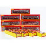Hornby 00 Gauge BR ex LMS maroon Non Corridor Coaches, R,4689, A, 4690, A, 4691, A, B, 4799, 4780,
