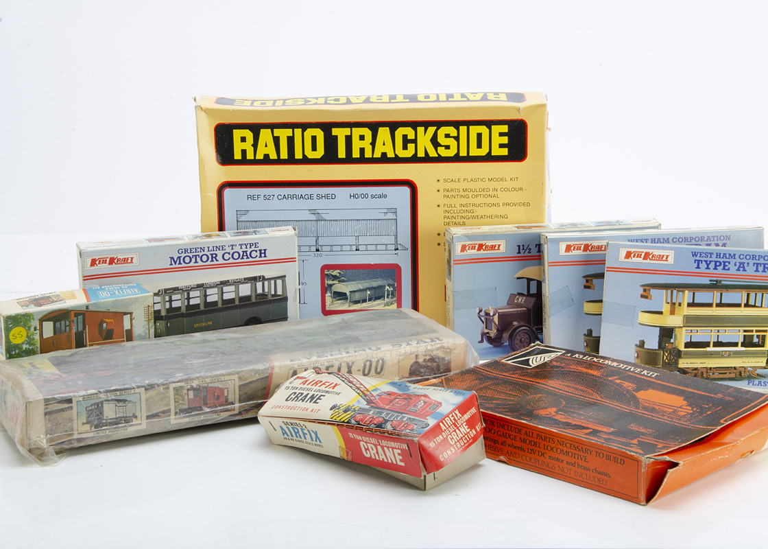 K's Keyser 00 Gauge Deans Goods Kit and various Plastic kits and Accessories by Airfix Keilkraft and