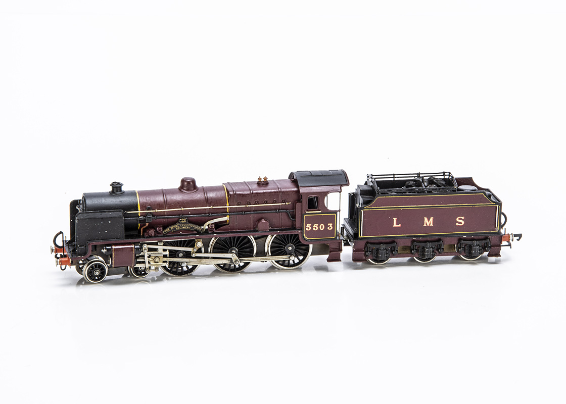 A Kit-built 00 Gauge LMS 'Patriot' class 4-6-0 Locomotive and Tender, from a Jamieson brass kit with