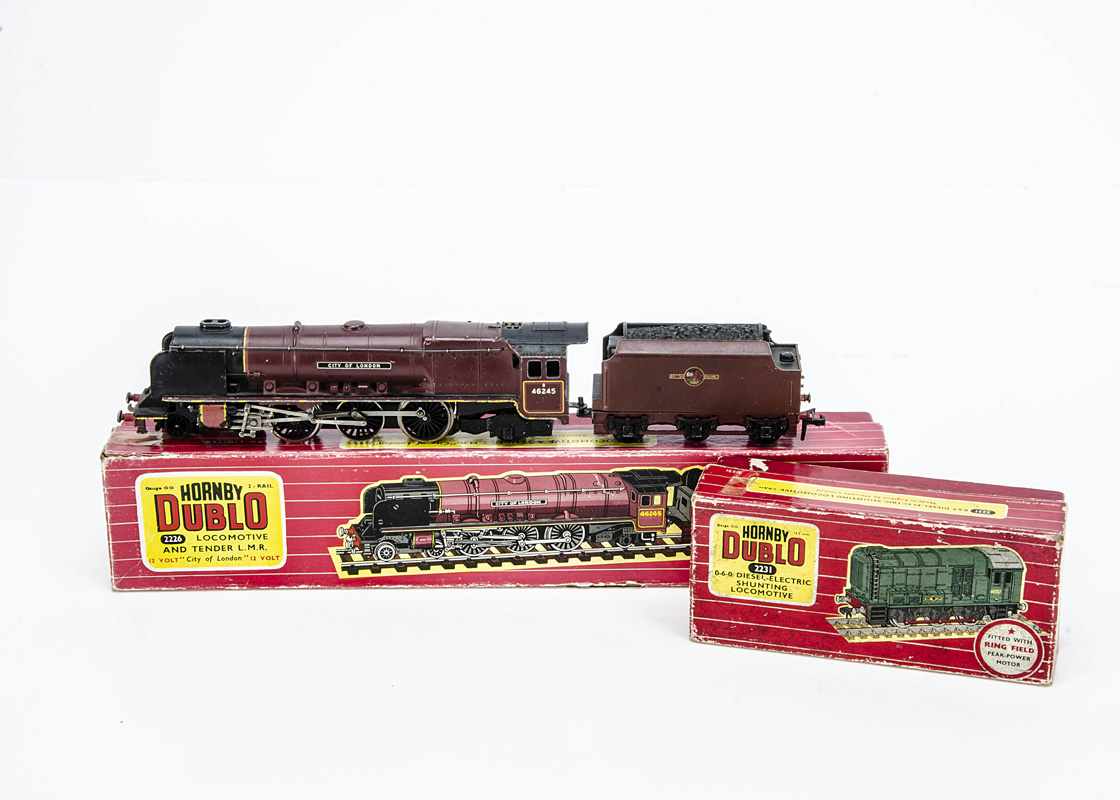 Hornby-Dublo 00 Gauge 2-Rail Locomotives, 2226 BR maroon 46245 'City of London' and 2231 0-6-0 D3302