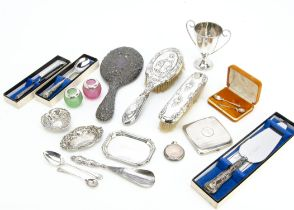 A collection of 19th and 20th Century collectable silver and other items, including a Victorian