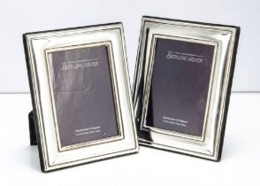 A pair of modern silver fronted photograph frames, 18cm high