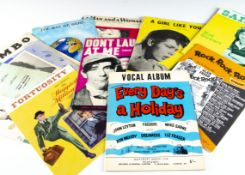 Sheet Music / Scores, more than two hundred pieces of Sheet Music and approximately thirty Music
