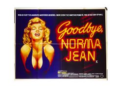 Goodbye Norma Jean UK Quad Poster, Goodbye, Norma Jean (1976) UK Quad cinema poster, for the Marilyn